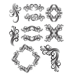 Vintage Floral Elemet Decorations vector image vector image