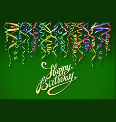 Birthday greeting card with place for your text - vector