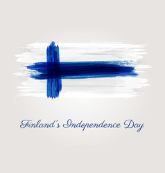finlands independence day vector image