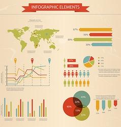 Retro infographics set 2 vector image