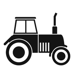 Tractor icon simple style vector image
