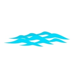 Waves ripple icon cartoon style vector image