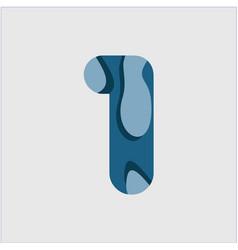 1 water font template design vector