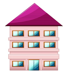 A big three-story house vector