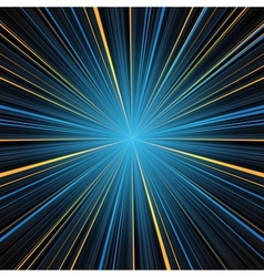 Abstract blue and yellow stripes burst background vector