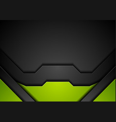 Abstract corporate green black background vector