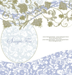 Abstract floral and swirl invitation card vector