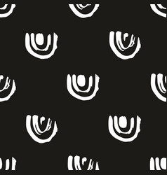 Abstract seamless pattern on a black background vector