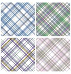 Abstract Tartan Checkered Seamless Pattern Set vector