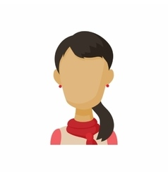 Avatar brunette woman icon cartoon style vector image