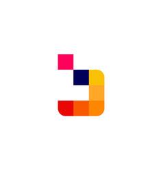 b letter pixel digital logo icon vector image