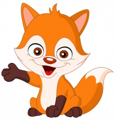 baby fox vector image