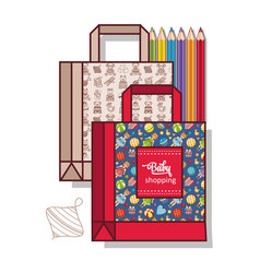 Bag for shopping goods for kids vector