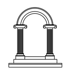Beautiful romantic arc door element for your vector