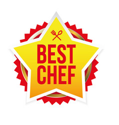 Best chef award badge star vector