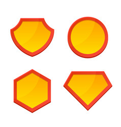 Blank superhero logo template set vector