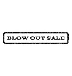 Blow out sale watermark stamp vector