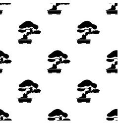 Bonsai icon in black style isolated on white vector