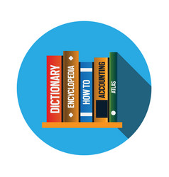 Books logo icon design template vector