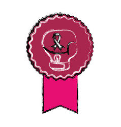 breast cancer campaign symbol vector image