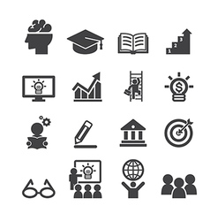 Business education icon vector