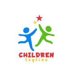 children logo icon design template vector image