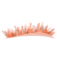 Cityscape on white stylized vector