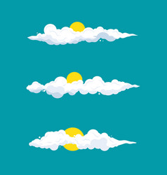 cloud cartoon design vector image