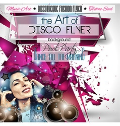 Club Disco Flyer Set with DJs and Colorful vector
