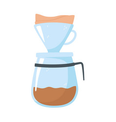 coffee brew method drip isolated icon style vector image
