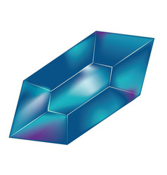 colorful rock crystal vector image