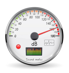 Decibel gauge volume unit on high level glass vector