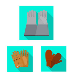 design of glove and winter logo collection vector image