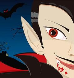 Dracula the vampire vector image