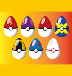 Eggs pokeballs pokemon image vector
