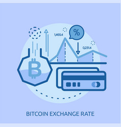 euro exchange rate conceptual design vector image