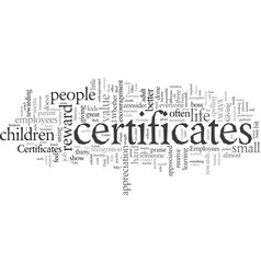 Everyone loves certificates vector