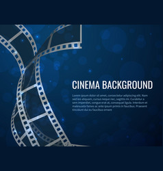 film strip roll poster movie production with vector image