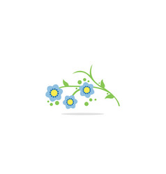 flower nature logo vector image