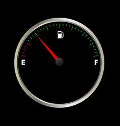 fuel gauge meter vector image