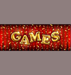 Gold balloons games for store banners vector