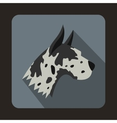 Great dane dog icon flat style vector image