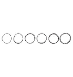 hand drawn sketch lines round scribble frames vector image