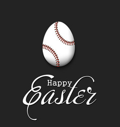 happy easter egg in form a baseball ball vector image