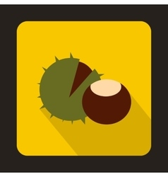 Hazelnuts icon in flat style vector