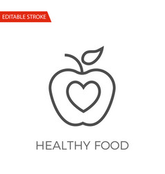 Healthy food icon vector
