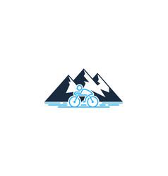 Hiking bike logo icon design vector