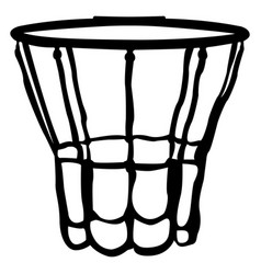 isolated basketball net vector image