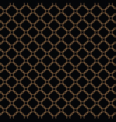 Lattice gold pattern with trendy lattice on a vector