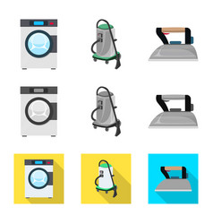 laundry and clean logo vector image